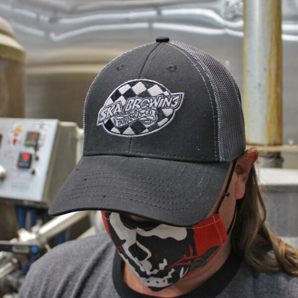 Ska Brewing Black Mesh logo Cap Hat